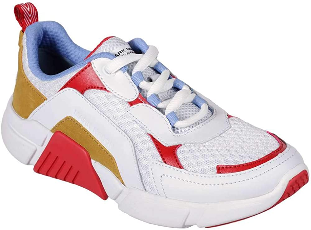 Mark Nason Women's Block Trinity Fashion Sneakers White/Multi