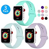 BMBEAR Sport Bands Compatible Apple Watch Band 38mm 40mm Soft Silicone Strap Replacement Bands for Apple Watch Series 5 Series 4 Series 3 Series 2 Series 1