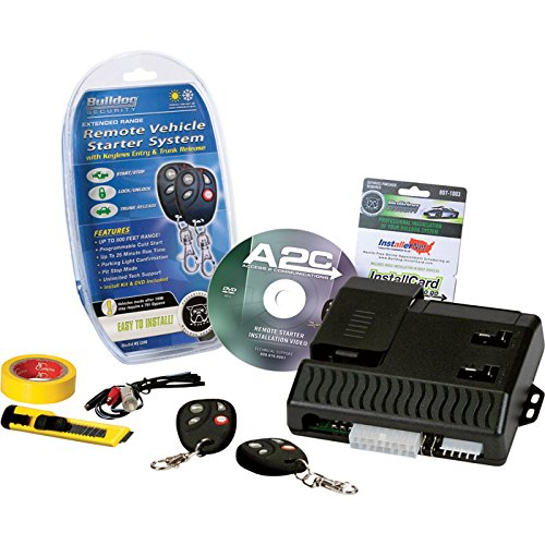 Bulldog Security Remote Vehicle Starter System with 2 Remotes - 800 Ft. Range, Model# RS1200B