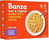 Banza Chickpea Pasta Deluxe Mac and Cheese with Classic Cheddar – High Protein, Gluten Free Mac and Cheese, Vegan Mac and Cheese, Healthy Macaroni and Cheese (Pack of 6)
