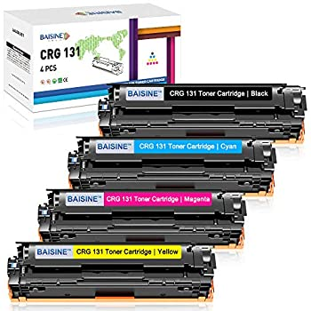 BAISINE Compatible MF8280Cw Toner Cartridge Replacement for Canon 131 131H Toner for Canon ImageCLASS MF628Cw MF8280Cw LBP7110Cw MF624Cw MF8280 Laser Printer Ink  Black Cyan Magenta Yellow 4 Pack