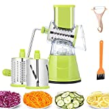 Cheese Grater 3-in-1 Mandoline Slicer Cheese Slicer and Grinder for Potato Cucumber Carrot Cheese Green