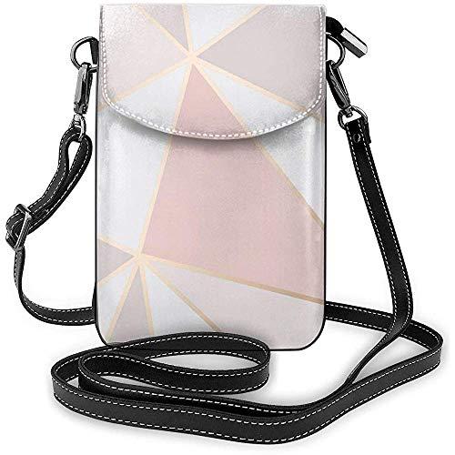 Interieur shop Rose Gold geometrische spiegel patroon kleine crossbody portemonnee mobiele telefoon zak mini dode schoudertas voor op reis werken winkelen