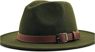 Fashion Sun Hat for Men Women Fashion Fedora Fedora Hat Jazz Hat Summer Spring Black Wool Blend Hat Outdoor Casual Jazz Hat Suitable for hot Weather Season (Color : Green, Size : 56-58CM)