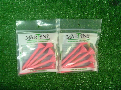 MARTINI 3 1 4  PINK COLOR GOLF TEES - 2 PACK