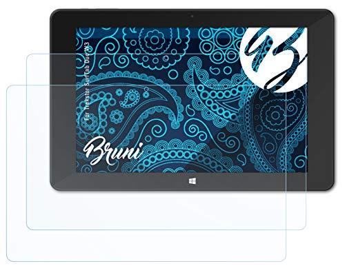 Bruni Schutzfolie kompatibel mit Trekstor SurfTab Duo W3 Folie, glasklare Bildschirmschutzfolie (2X)