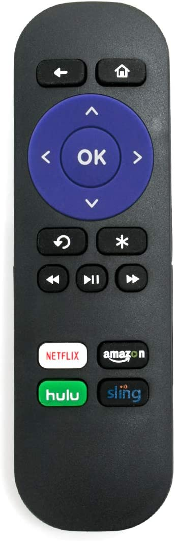 New Remote Control Fits for ROKU 1, ROKU 2, ROKU 3 and ROKU 4,Roku Express/Premiere/Ultra 4620XB 4K UHD Streaming Media Player Ultra 4K with 4 Shortcut