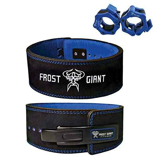FFrost Giant Fitness: Lever Weightlifting Belt Premium Suede Leather | Professional Grade for Deadlifts, Weight Lifting, Squats, (2XL, 10 MM)