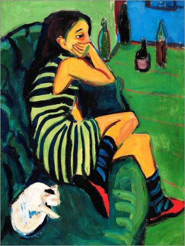 Posterlounge Cuadro de Madera 30 x 40 cm: Artiste - Marcella de Ernst Ludwig Kirchner