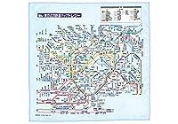 東京近郊マップ 超極細繊維 メガネ拭き 東レトレシー 22×22cm