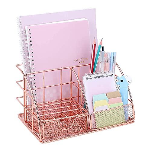 Anyingkai Schreibtisch Organizer Metall,Stiftehalter Schreibtisch,Schreibtisch Organizer Kinder,Stifteköcher Schreibtisch Metall,Stifteköcher Schreibtisch Organizer