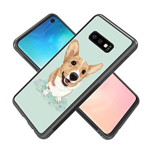 Samsung Galaxy S10e Phone Case Corgi Dog Pattern Hard Shell Tire Soft Edge TPU+PC Black Material Samsung Galaxy S10e Case