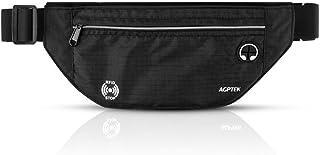 AGPTEK Sport resesouvenir, RFID-blockerande svettbeständig midjeväska för kvinnor och män, andningsbar justerbar och stöld...