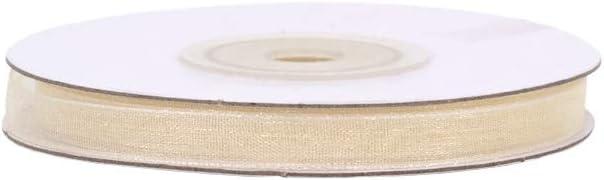 voilage mousseline leger 25M organza ivoire largeur 6mm