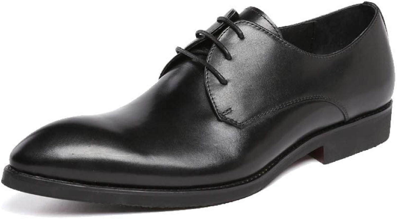 YCGCM Men's Leather shoes, Business, Lace, Fashion, Atmosphere, Wedding shoes, Comfort