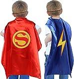 vamei Superhelden Kostüm Kinder Jungen Superhelden Umhang Cape Maske Halloween DIY Umhang Helden Rollenspiel Geburtstagsfeier Mitgesel Gastgeschenk Halloween karnevalskostüm Kinder Helden Party - 6