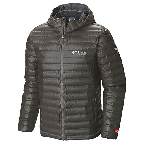 Columbia Men s Outdry Ex Gold Down Hooded Jacket Black L