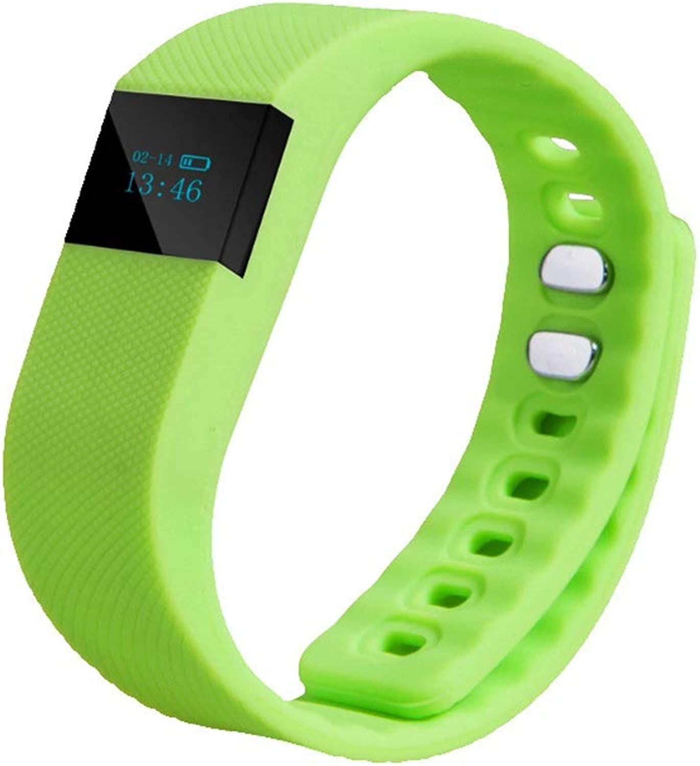 WckYT Intelligent Monitoring blueeetooth Connection Sleep Quality Smart Bracelet Fitness Mobile Phone Pedometer AntiLost (color   Green)