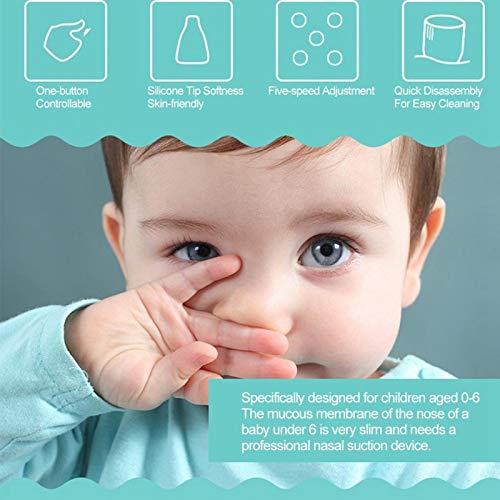 Dpofirs Limpiador de Nariz eléctrico Aspirador de moco Nasal Limpiador de poros de Nariz para bebés y niños pequeños