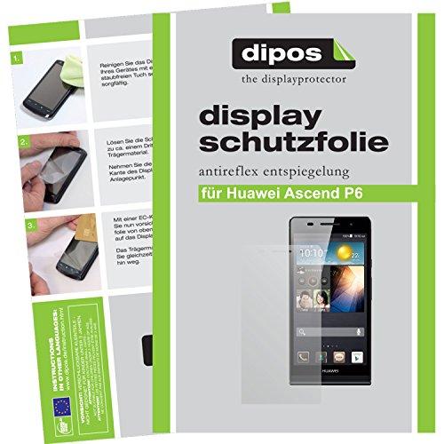 dipos I 2X Schutzfolie matt kompatibel mit Huawei Ascend P6 Folie Displayschutzfolie