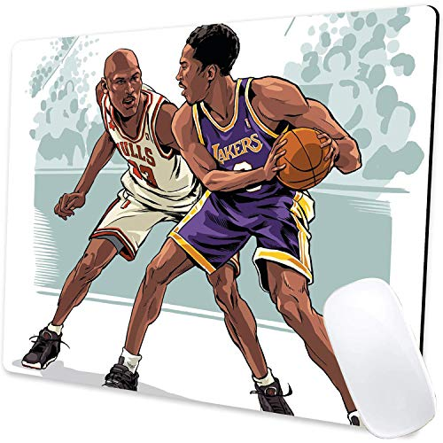Kobe Jordan Gaming Mouse Pad Non-Slip Rubber Base Mouse Pads Basketball Mousepads for Computers Laptop Office, 9.5'x7.9'x0.12' Inch(240mm x 200mm x 3mm)