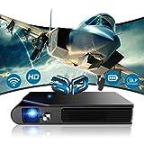 モバイル プロジェクター ミニ WiFi 3600 ルーメン 1080PフルHD対応 DLP 小型 プロジェクター 自動台形補正 3D 充電式バッテリー内蔵 HDMI / USB/AV ソコン/スマホ/タブレット/ゲーム機/DVDプレイヤーなど接続可能 ホームプロジェクター