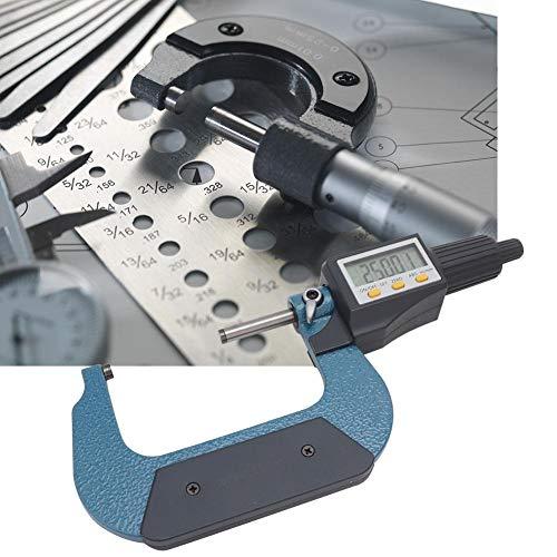 Legierungsdickenmikrometer, Außenmikrometer, breite Anwendung Verchromte Messgeräte für Werkstattwerkzeuge Werkstattbedarf Messwerkzeug(50-75mm)