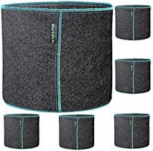 2 Gallon Fabric Grow Bags Pack of 6 Round Thick Small Non-Floppy Breathable Cloth Growing Pots