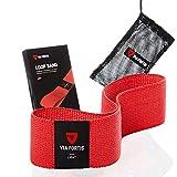 VIA FORTIS Gomas elasticas Fitness Bandas elasticas musculacion Hecho de Material Textil Que no daña la Piel - con el Plan de Entrenamiento y la Bolsa - Disponible como Conjunto