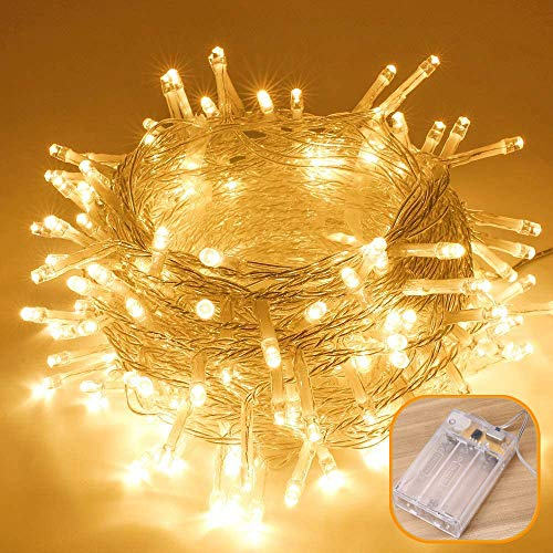 X-go 2pcs 6m 40 LED String Lights, Battery Operated Fairy Lights for Christmas Birthday Wedding Bedroom Garden Party Outdoor Indoor Decoration (Warm White)