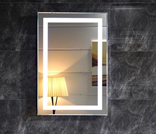 LED-Beleuchtung Badspiegel Lichtspiegel Wandspiegel Badezimmerspiegel Kaltweiß Tageslichtweiß (50 x 70 cm)