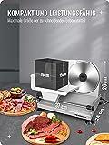Brotschneidemaschine Elektrisch 200W, 2 rostfreies Edelstahlmesser, Leicht zu reinigen, Elektrische Allesschneider mit 0-15 mm einstellbarer Dicke, Anescra - 6