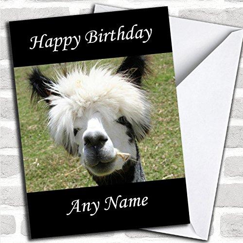 Grappige Alpaca verjaardagskaart met envelop, kan volledig gepersonaliseerd worden, snel en gratis verzonden