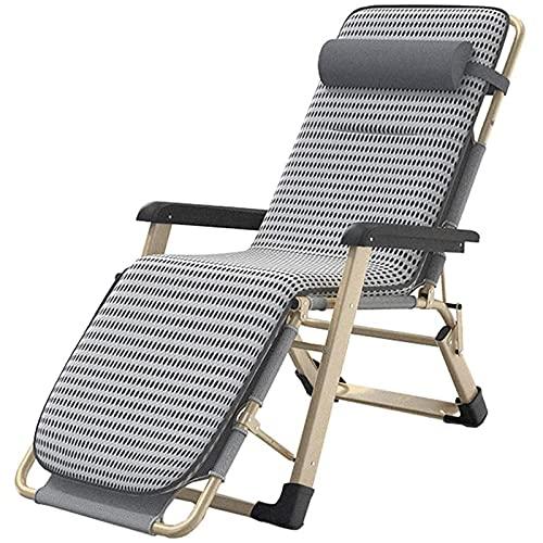 FC-Bed Patio Lounge Recliners Silla al Aire Libre Cero Gravedad Ajustable césped tumbonas Sillas con cojín para la Piscina de Patio de la Playa de Cubierta, Soporte 330 Libras