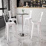 Flash Furniture 23.5'' Round Adjustable Height Glass Table (Adjustable Range 33.5'' - 41'')