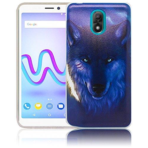 Wiko Lenny 5 Passend Nacht Wolf Handy-Hülle Silikon - staubdicht, stoßfest und leicht - Smartphone-Case