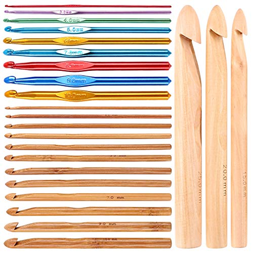 Aluminum and Bamboo Hook Set