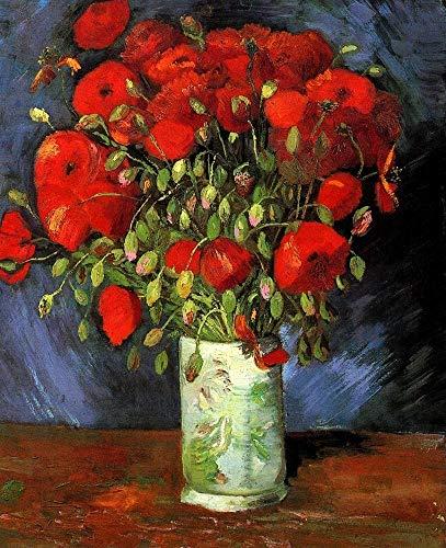P Van Gogh   Jarrón con flor roja   Puzzle de 300/500/1000 piezas de madera rompecabezas para adultos P (tamaño : 1000 piezas)