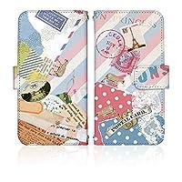 AQUOS sense2 SH-01L ケース [デザイン:13.ボン・ボヤージュ/マグネットハンドあり] レディース&ガーリー docomo ドコモ アクオス sh01l 手帳型 スマホケース スマホカバー 手帳 携帯 カバー