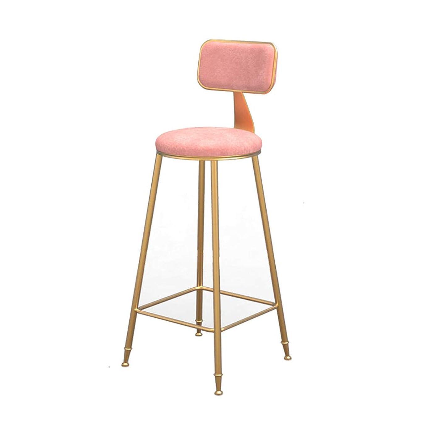 メタン摩擦包帯XINGPING-Furniture 北欧インシンプルバーチェアレジャーチェアバーチェアハイフットスツールネットレッドチェアバースツールダイニングルームチェアバースツール (色 : ピンク, サイズ さいず : 65cm)