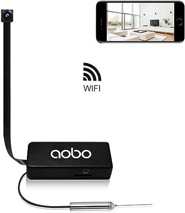 Hidden Camera AOBO Mini Spy Camera Wireless WiFi IP Cameras for Home/Office Security Portable