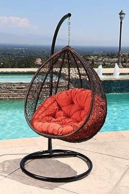 rattan wicker outdoor hammock chair