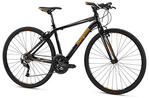 Mongoose Artery Expert Gravel Road Bike with Aluminum Frame and 700c Wheels, 15-Inch/Small Frame, Black