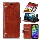 SHIEID Hülle für Xiaomi Mi Mix 2s Hülle Brieftasche Handyhülle Tasche Leder Flip Hülle Brieftasche Etui Schutzhülle für Xiaomi Mi Mix 2s (Braun)