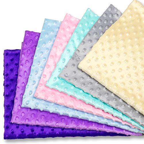 Tessuto Cotone Stoffa Patchwork Tessuti a metraggio 7 Pezzi 50 x 80 cm - Scampoli Stoffe per Cucito Creativo al Metro, per Bambini Fai da (Minky Multicolore, 7 Pezzi 75 x 50 cm)