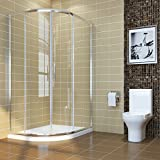 ELEGANT 1200 x 900 mm <span class='highlight'>Offset</span> <span class='highlight'>Quadrant</span> <span class='highlight'>Shower</span> Cubicle 6mm Glass Sliding door <span class='highlight'>Shower</span> <span class='highlight'>Enclosure</span>