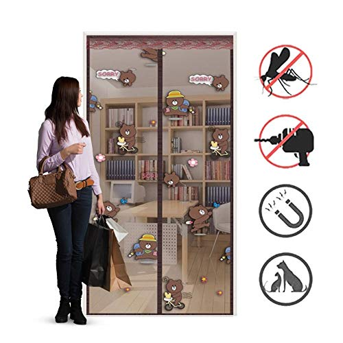 Magnetic Fly Screen Door, Anti-mosquito Curtain, Super Quiet Stripes Encryption, Keep Bug Out Let Fresh Air In for Balcony Sliding Living Room Children's Room/C / 150 * 210cm