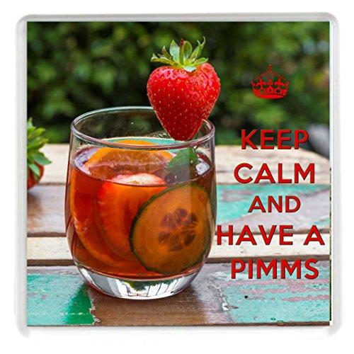 Keep Calm and Have a Pimms quadratisch Getränke Untersetzer aus unserer Keep Calm and Carry On Serie. Ein ideal Geburtstag Geschenk für A Pimms Liebhaber.