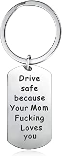 KOORASY Birthday Gifts for Daughter Son from Mother Drive Safe Keychains Mother Daughter Gifts from Mom/Dad