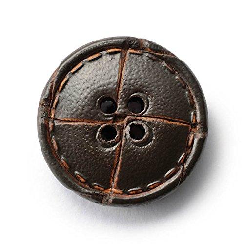 本革ボタンLZ1500 20mm (color.04ダークブラウン)紳士服スールジャケットコート用ボタン